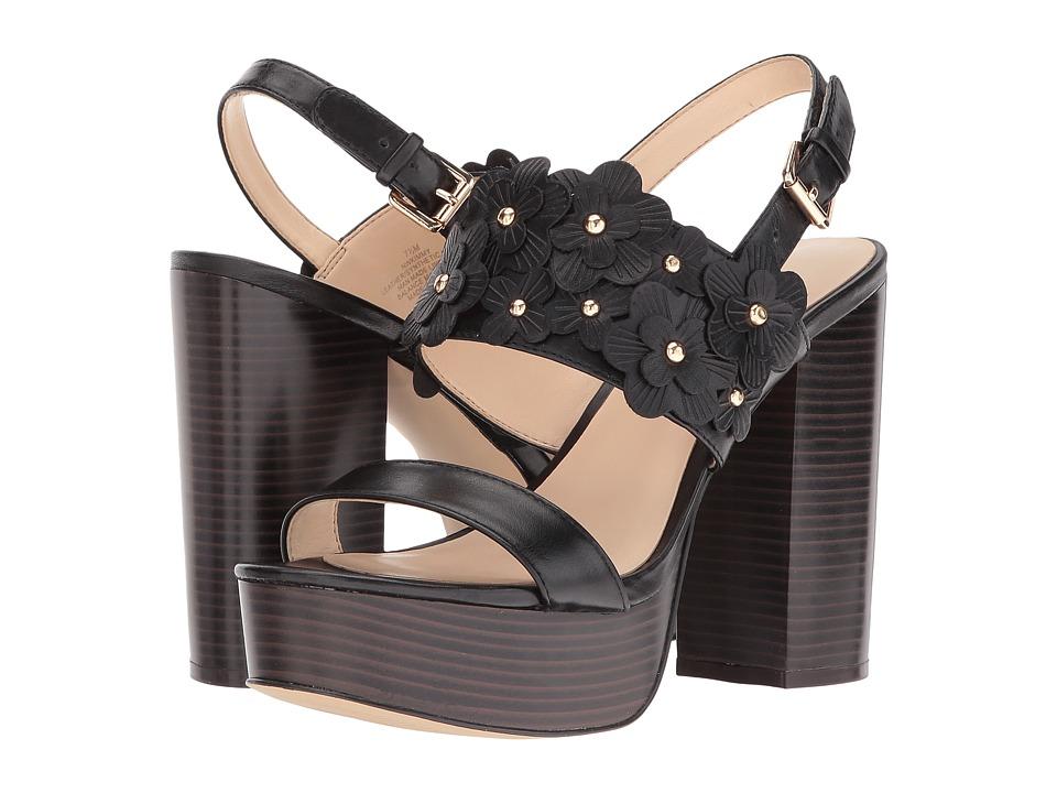 Nine West Kimmy (Black Leather) Women