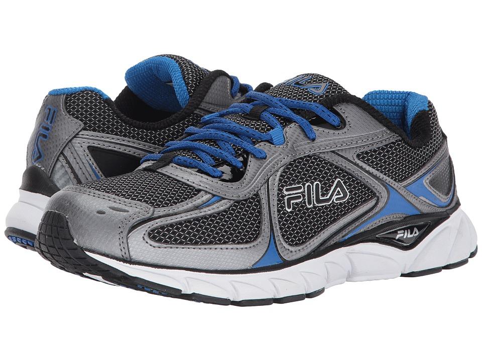 Fila - Memory Quadrix (Black/Dark Silver/Prince Blue) Men's Shoes
