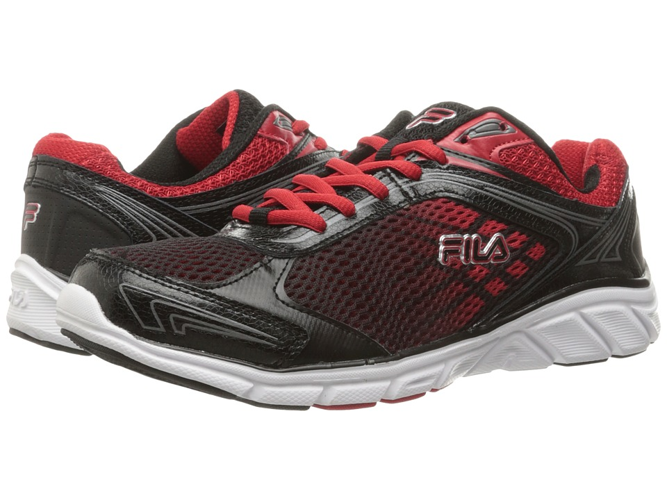 Fila - Memory Narrow Escape (Black/Dark Silver/Fila Red) Men's Shoes