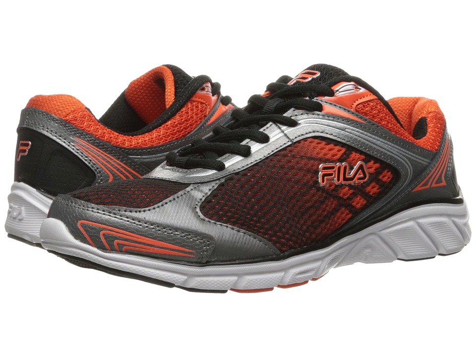Fila - Memory Narrow Escape (Black/Dark Silver/Red Orange) Men's Shoes