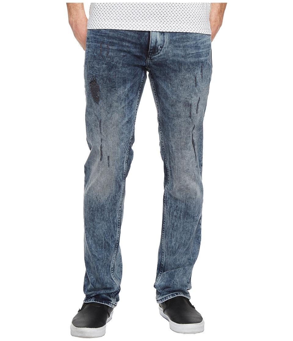 Calvin Klein Jeans Slim Straight Jeans in Bruise Indigo Wash (Bruised Indigo) Men
