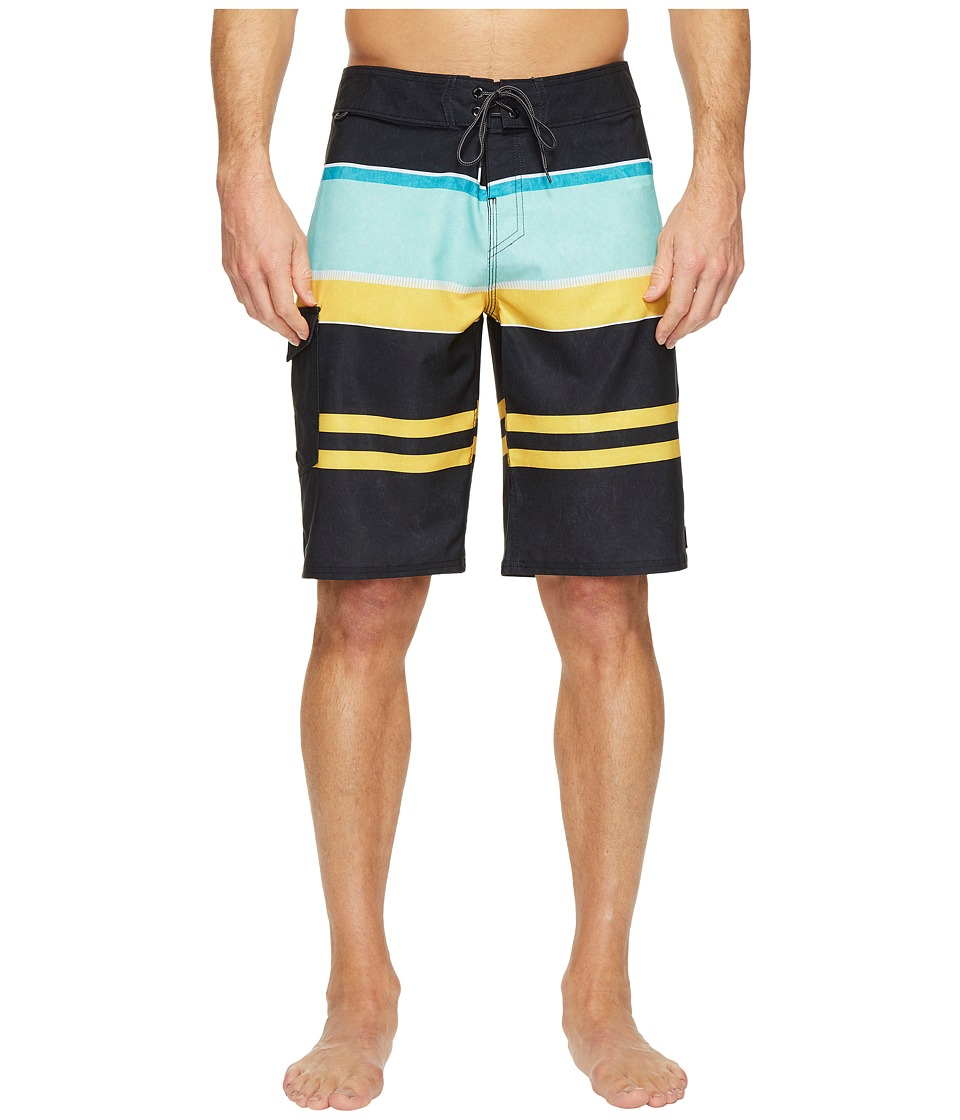 Reef - Layered Boardshorts (Black) Men's Swimwear