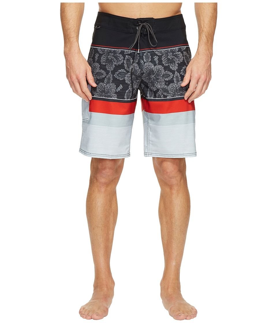 Reef - Malifloral Boardshorts (Black) Men's Swimwear