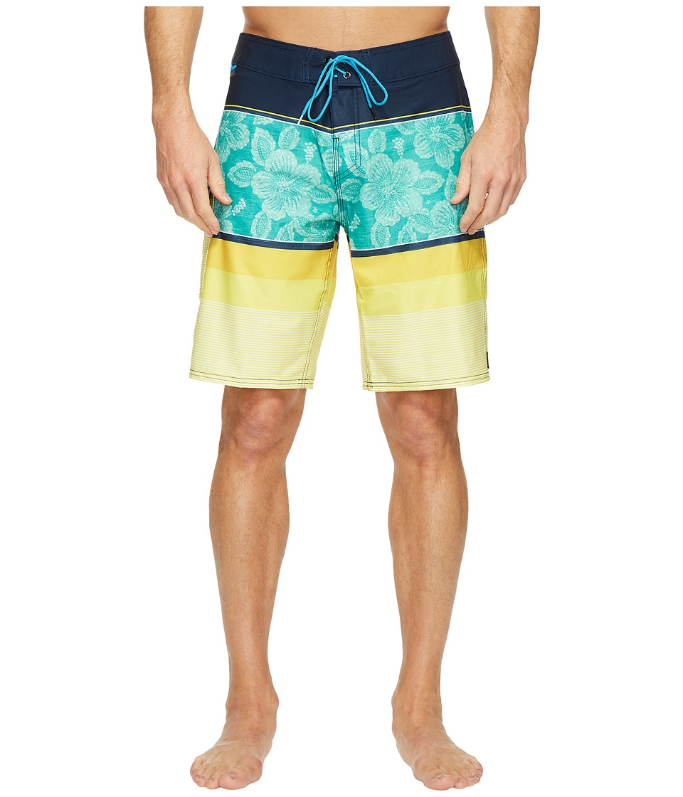 Reef - Malifloral Boardshorts (Blue) Men's Swimwear