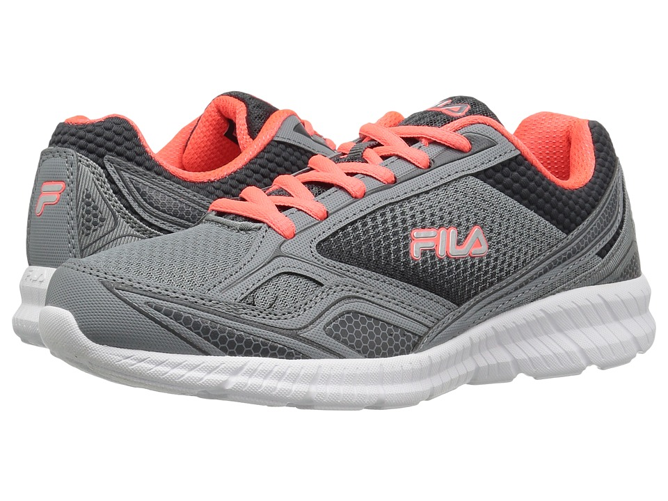 Fila - Memory Deluxe 17 (Monument/Dark Shadow/Fiery Coral) Women's Shoes