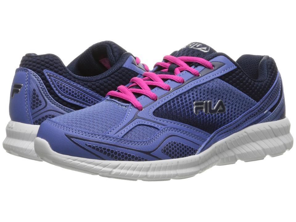 Fila - Memory Deluxe 17 (Wedgewood/Fila Navy/Pink Glo) Women's Shoes