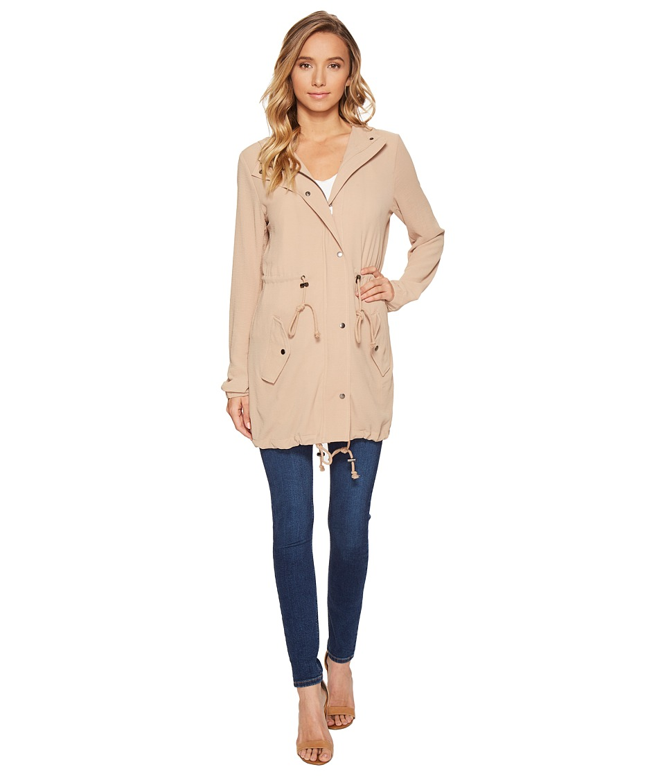 ROMEO & JULIET COUTURE - Hooded Parka Jacket (Khaki) Women's Coat