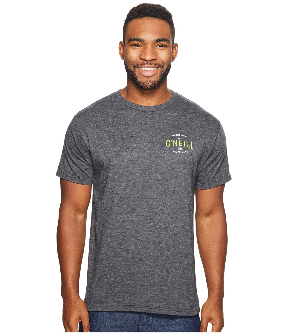 O'Neill - Subject Tee (Heather Black) Men's T Shirt