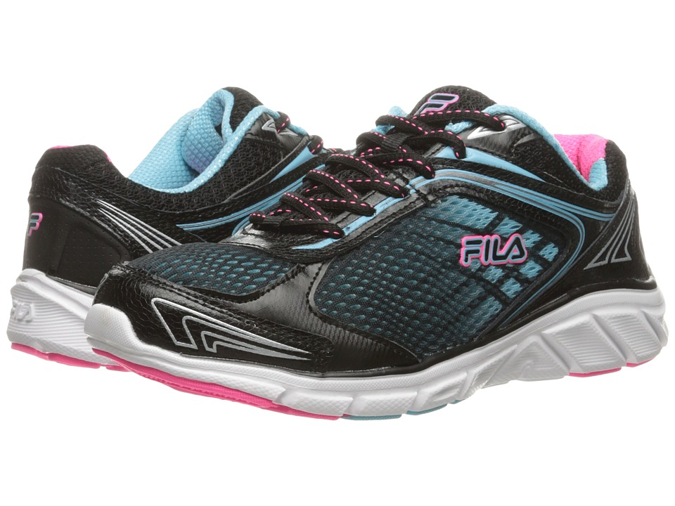 Fila Memory Narrow Escape (Black/Bluefish/Knockout Pink) Women