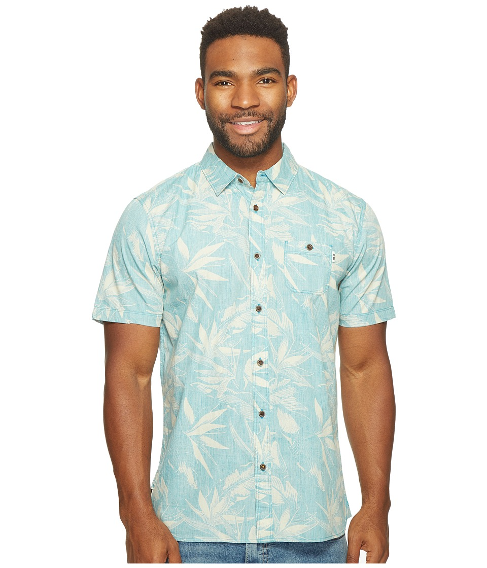 Reef - Paradise Short Sleeve Shirt (Blue) Men's Short Sleeve Knit