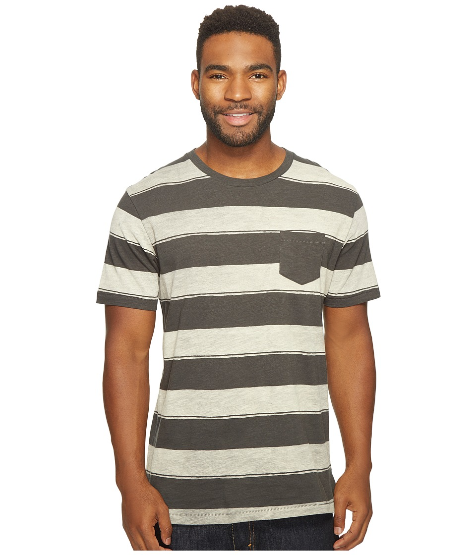 Reef - Stripe It Crew Shirt (Black) Men's Short Sleeve Knit