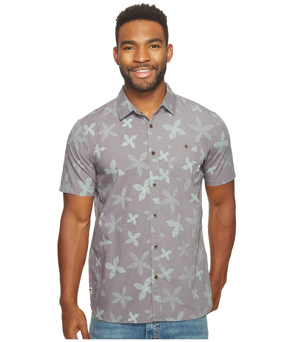 Reef - Retro Short Sleeve Shirt (Grey) Men's Short Sleeve Knit