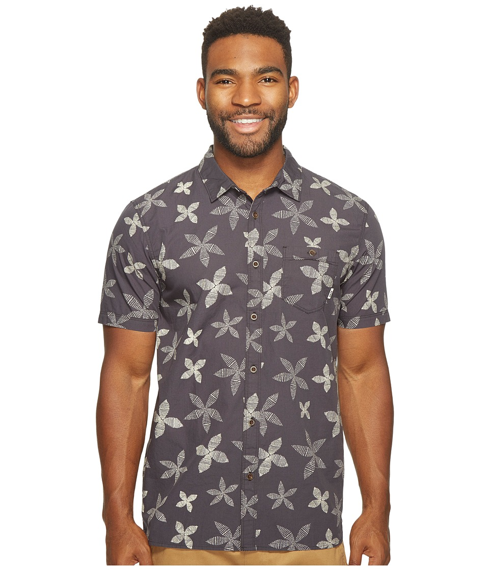 Reef  REEF - RETRO SHORT SLEEVE SHIRT (BLACK) MEN'S SHORT SLEEVE KNIT