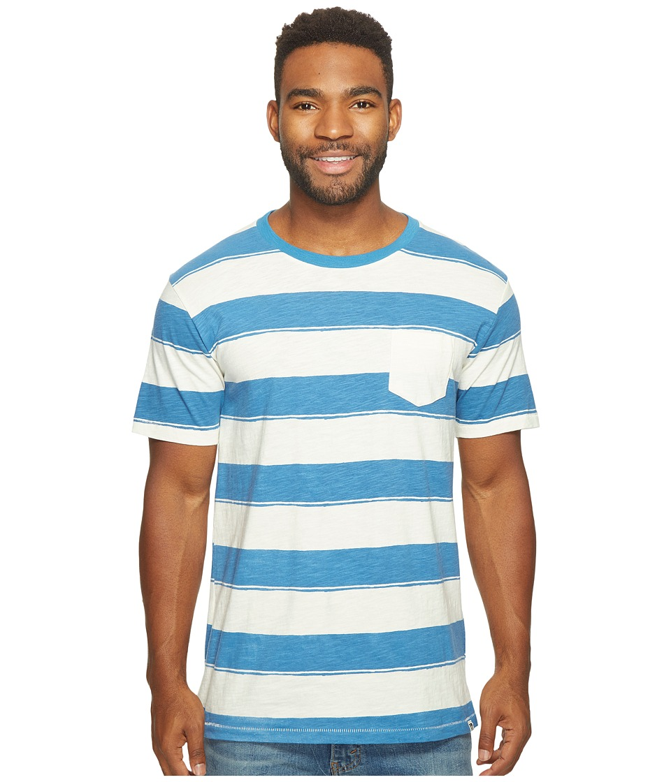 Reef - Stripe It Crew Shirt (Natural) Men's Short Sleeve Knit
