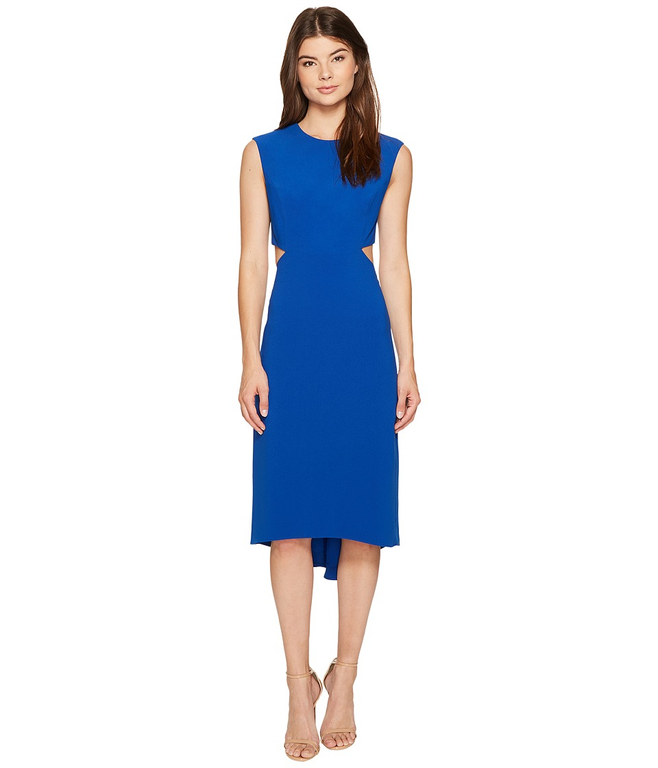 Halston Heritage Cap Sleeve Round Neck Dress