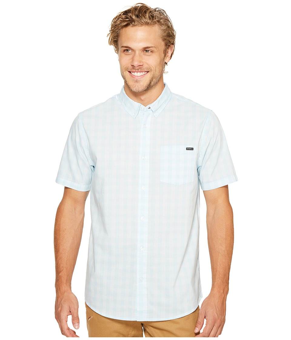 O'Neill - O'Neill Check Short Sleeve Woven (Sky Blue) Men's Clothing