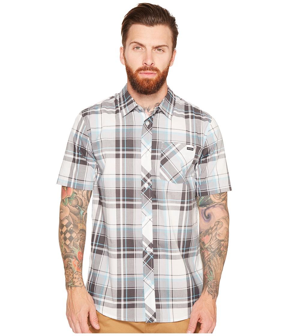 O'Neill - O'Neill Plaid Short Sleeve Woven (Grey) Men's Short Sleeve Button Up