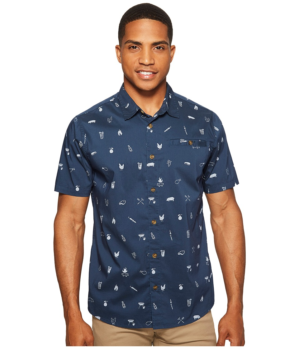 O'Neill - Grilled Short Sleeve Woven (Navy) Men's Short Sleeve Button Up