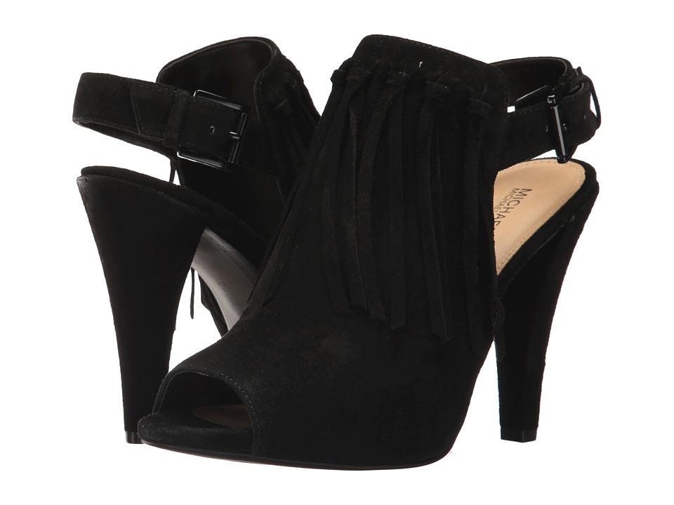 MICHAEL Michael Kors Kassidy Open Toe Black Sport Suede Shoes