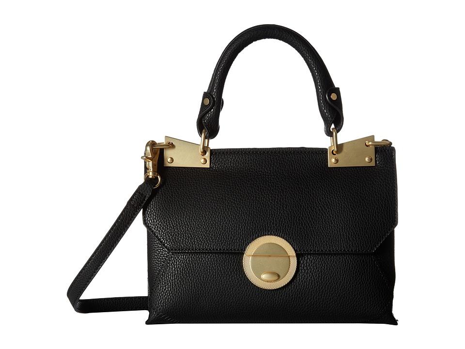 Foley & Corinna - Sedona Sunset Dione Flap Crossbody (Black) Cross Body Handbags