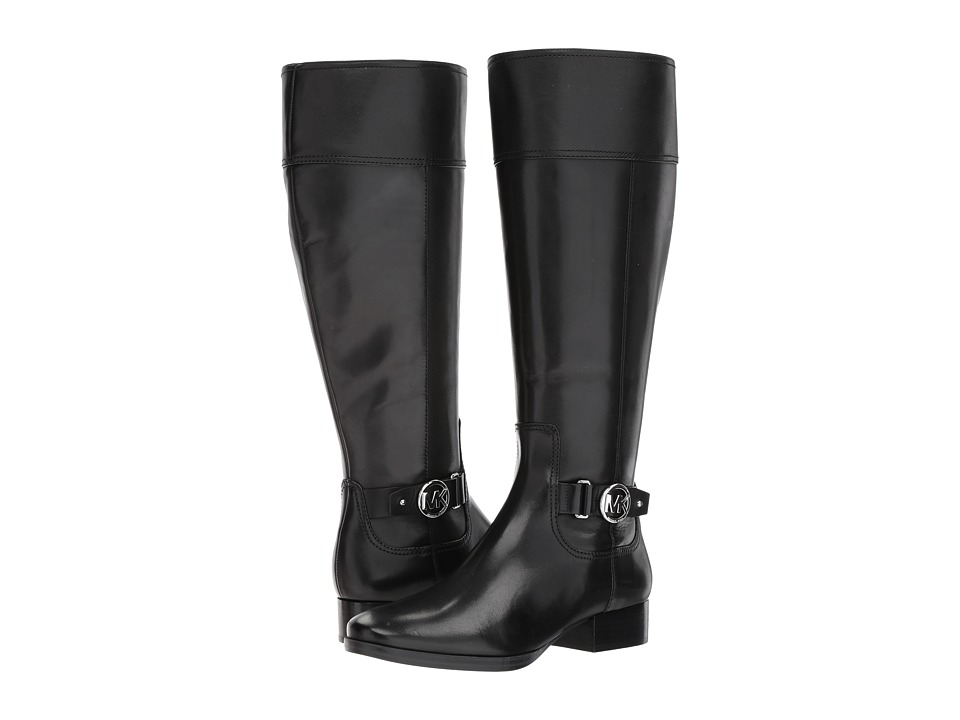 MICHAEL Michael Kors Harland Boot Wide Calf (Black Vachetta/Wide Shaft) Women