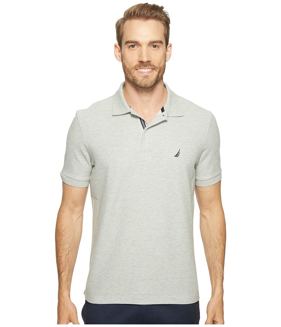 Nautica - Short Sleeve Solid Deck Shirt (Grey Heather) Men's Short Sleeve Knit