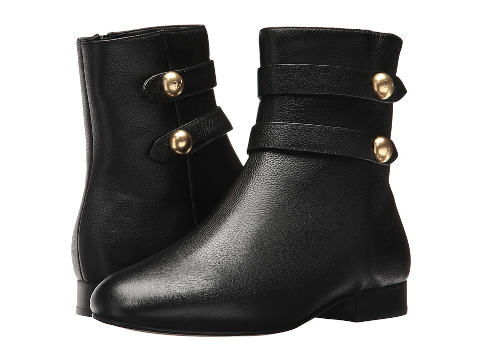 MICHAEL Michael Kors Maisie Flat Bootie (Black Tumbled Leather/Nappa) Women