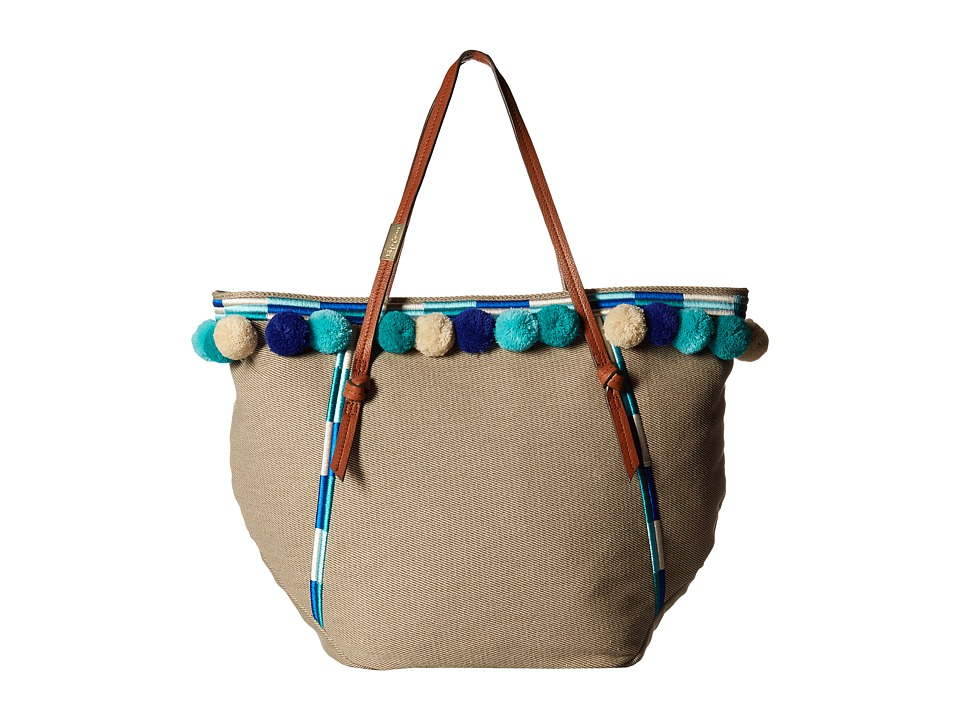 Foley & Corinna - Coconut Island Pom Beach Tote (Blue Multi) Tote Handbags