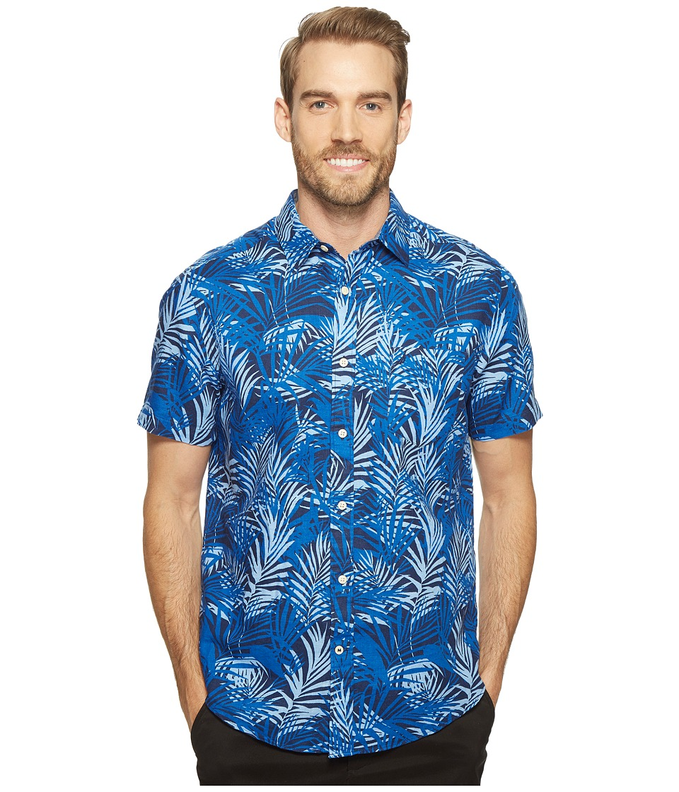Nautica - Short Sleeve Tropical Print (Marine Blue) Men's Clothing