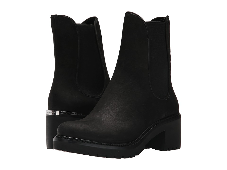 Carries New Womens Casual Shoes - Michael Kors Denver Flat Black Waxy Nubuck