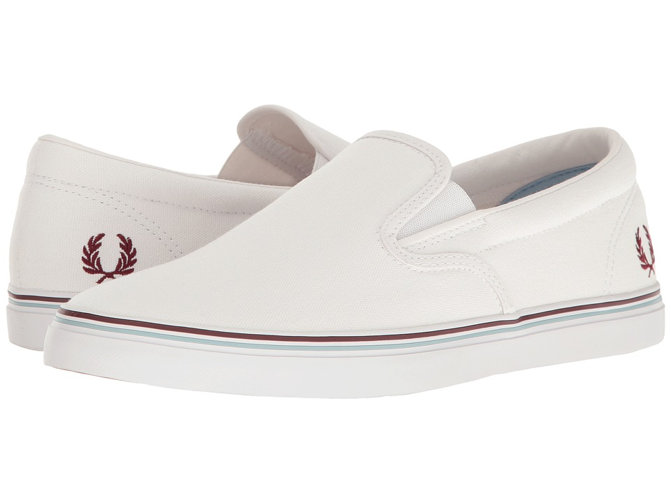 Fred Perry Underspin Slip-On Canvas (White) Men