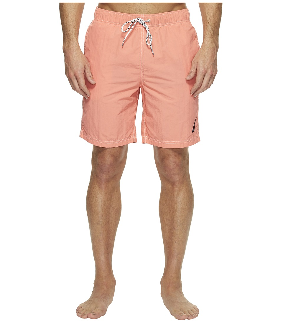 Nautica - New Fashion Colors of Anchors Solid Trunk (Pale Coral) Men's Swimwear