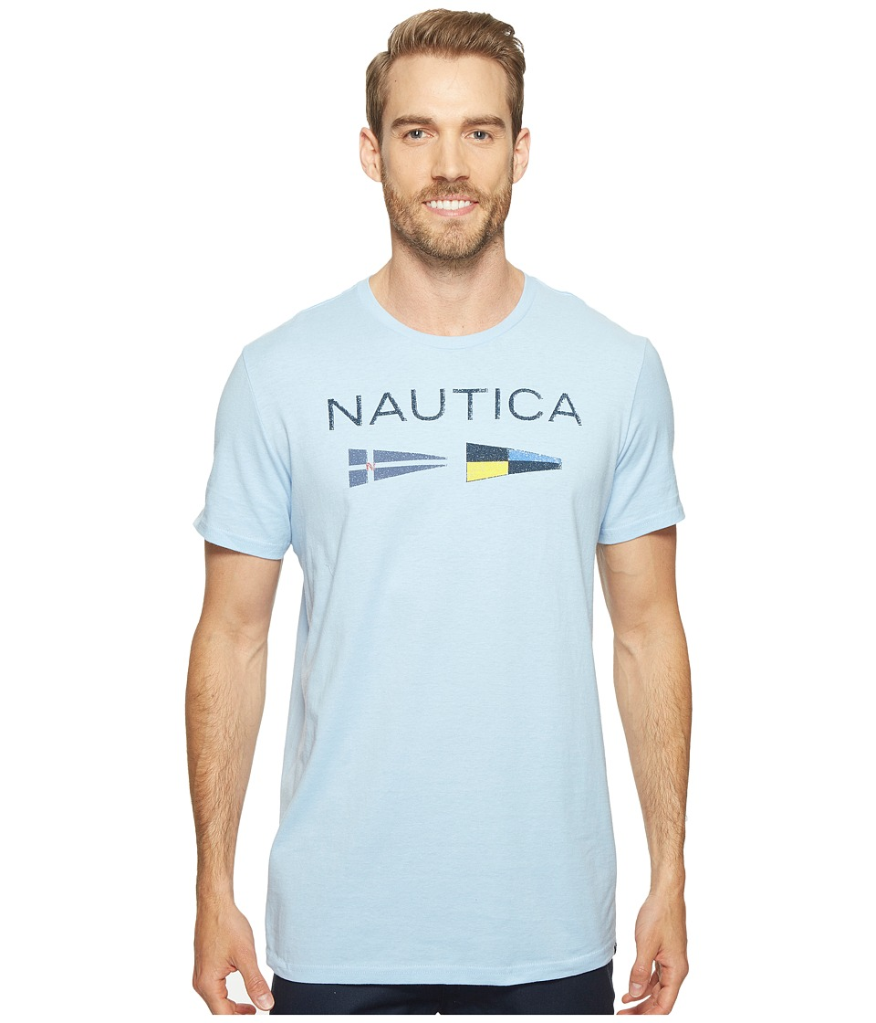 Nautica Nautica Flags Tee (Light Haze) Men