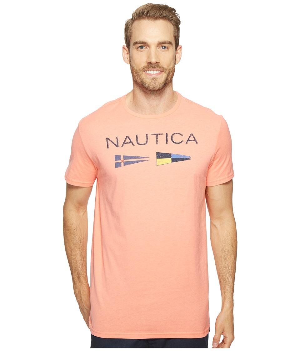 Nautica Nautica Flags Tee (Pale Coral) Men
