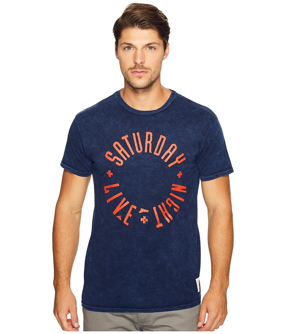 The Original Retro Brand - Saturday Night Live Mineral Wash Tee (Mineral Wash Navy) Men's T Shirt