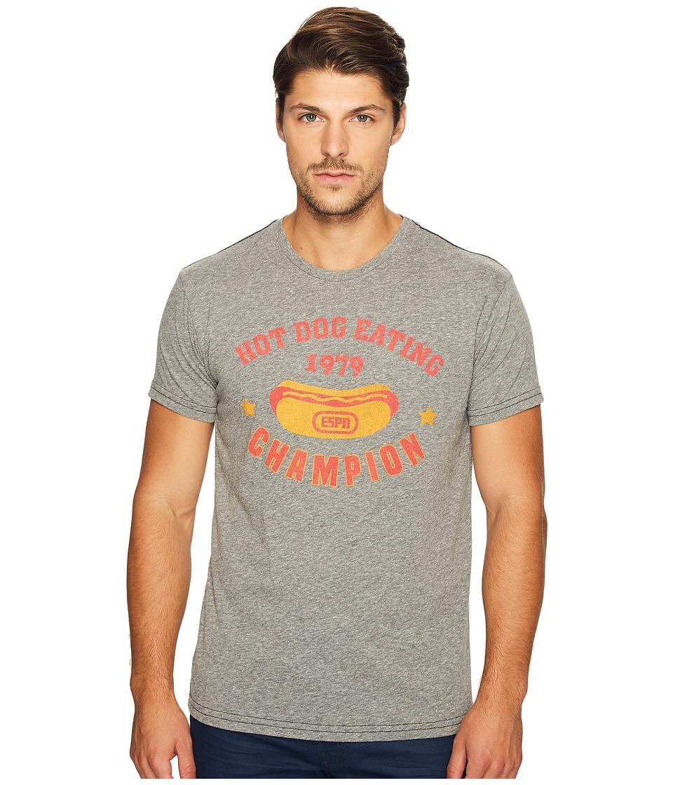 The Original Retro Brand - ESPN Hot Dog Eating Champ Vintage Tri-Blend Tee (Streaky Grey) Men's T Shirt