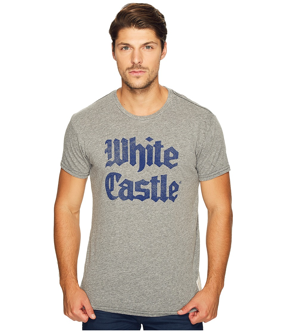 The Original Retro Brand - White Castle Short Sleeve Tri-Blend Tee (Streaky Grey) Men's T Shirt