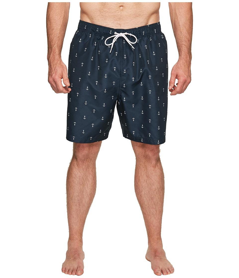 Nautica Big & Tall - Big Tall Anchors Trunk (Navy) Men's Swimwear