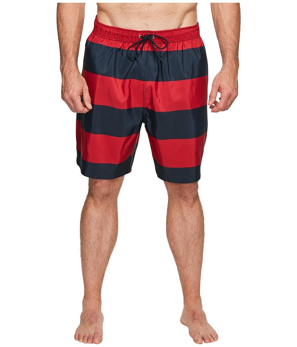Nautica Big & Tall - Big Tall Stripe Trunk (Nautica Red) Men's Swimwear