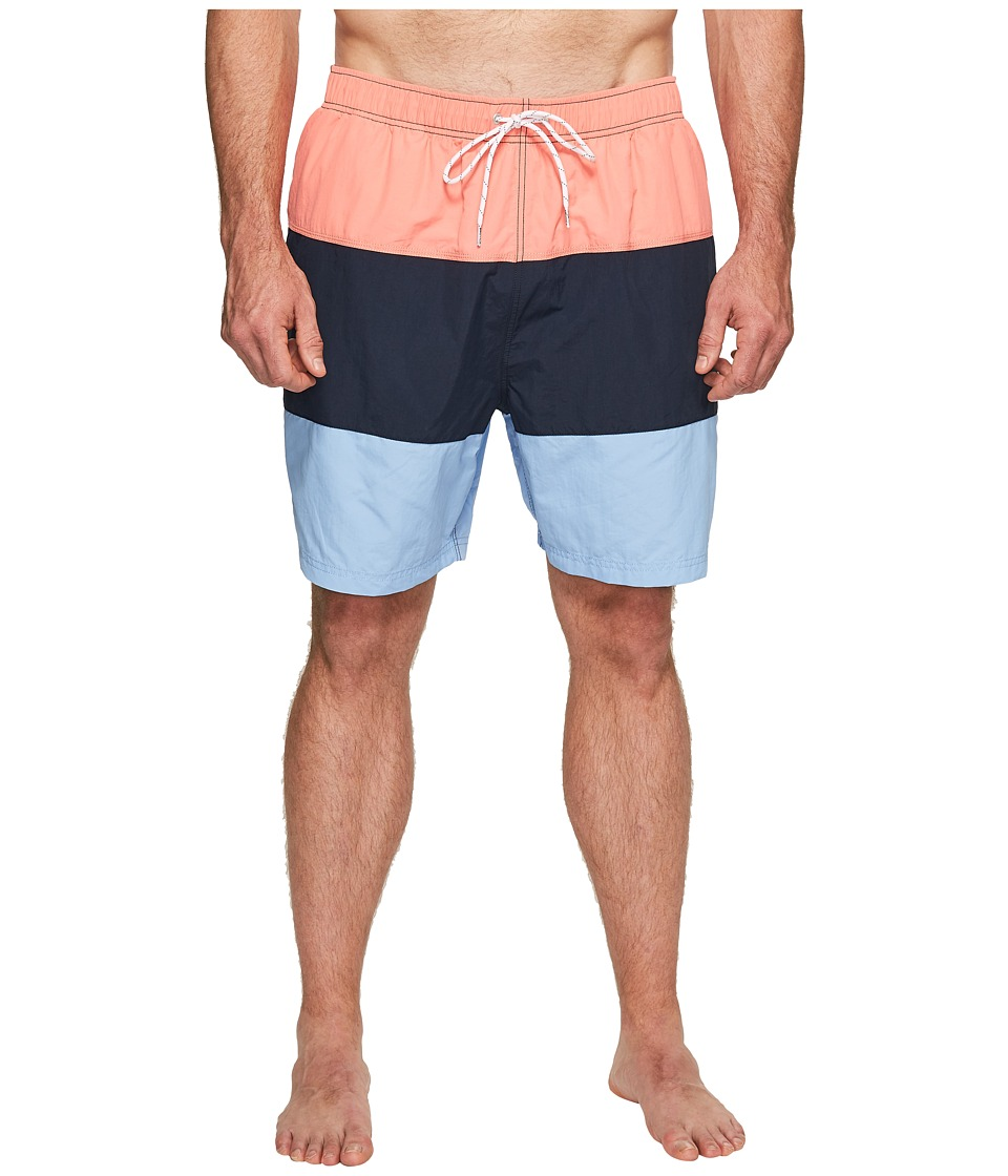 Nautica Big & Tall - Big Tall New Fashion Colors Swim (Pale Coral) Men's Swimwear