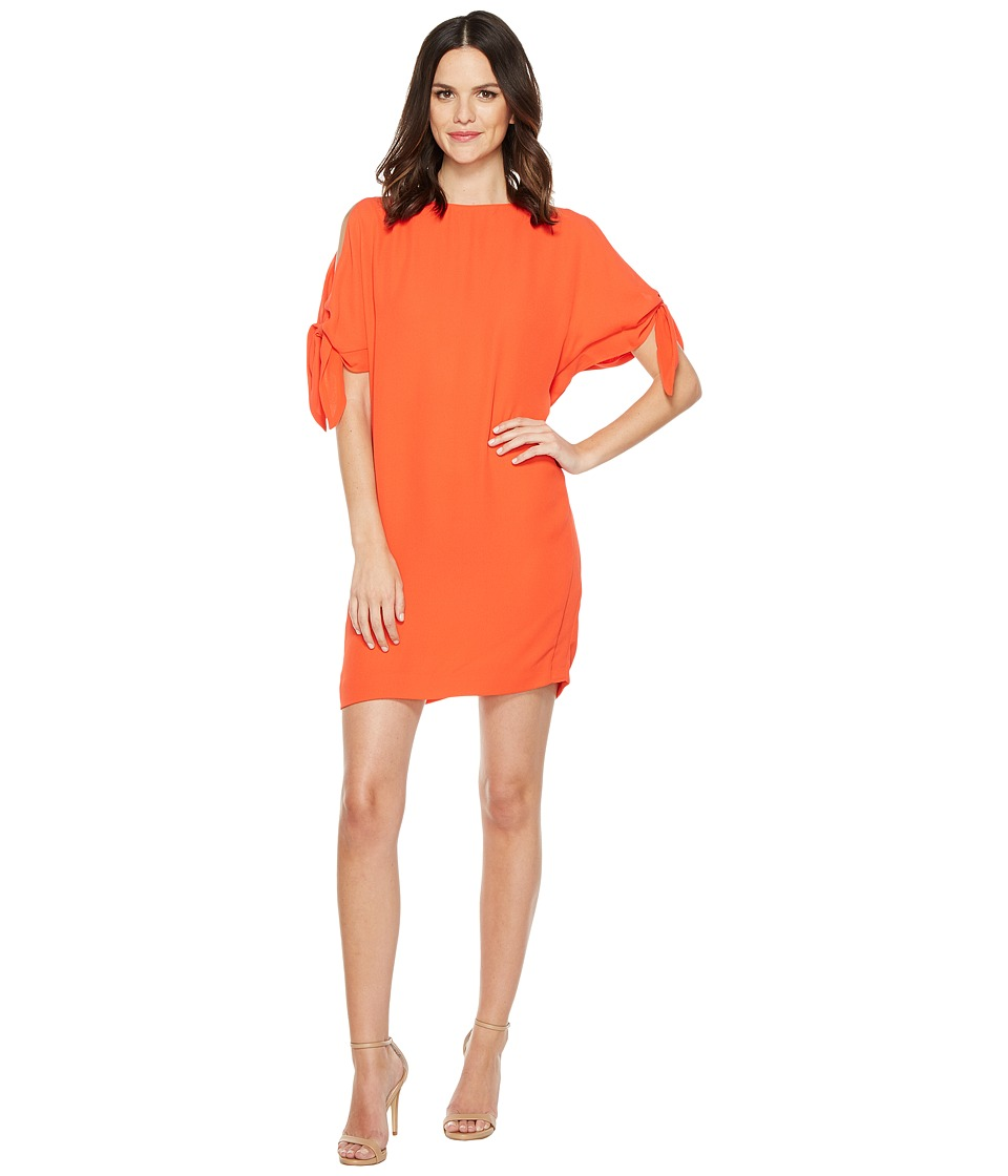 Vince Camuto - Crepe Knotted Sleeve Shift Dress (Tangerine) Women's Dress