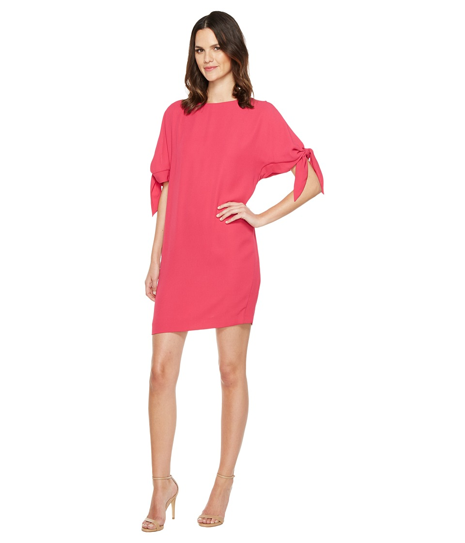 Vince Camuto - Crepe Knotted Sleeve Shift Dress (Pink) Women's Dress