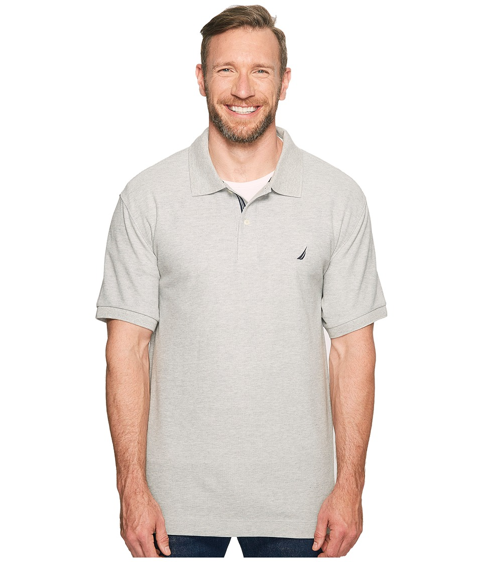 Nautica Big & Tall - Big Tall Short Sleeve Deck Shirt (Grey Heather) Men's Clothing
