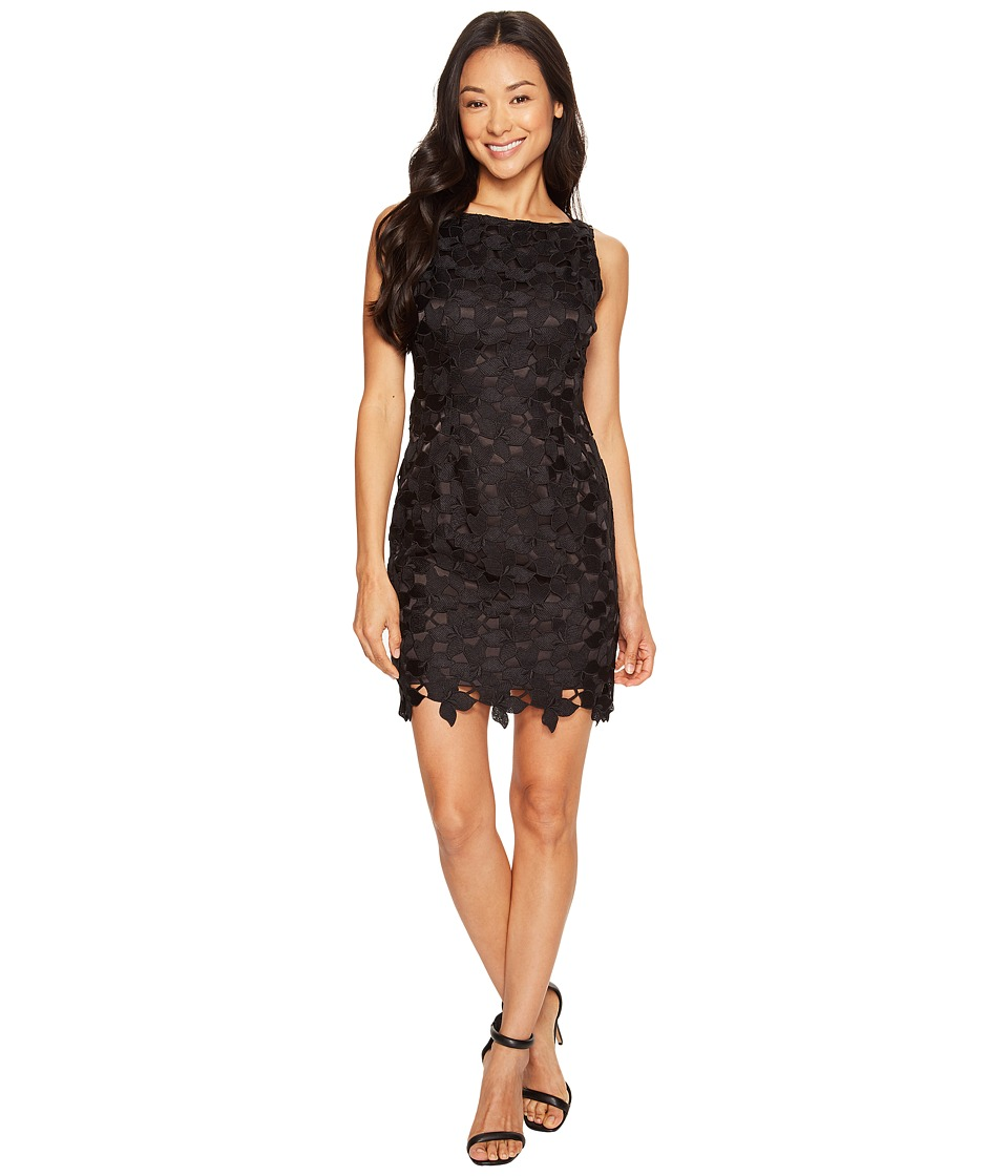 Tahari by ASL Petite - Petite Chemical Lace Sheath Dress (Black) Women's Dress