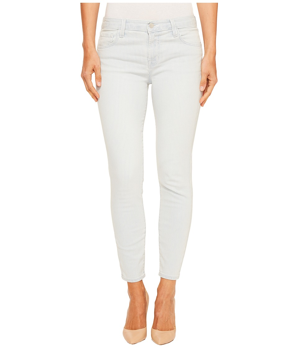 J Brand - Mid-Rise Capris in Bleached Stripe (Bleached Stripe) Women's Jeans