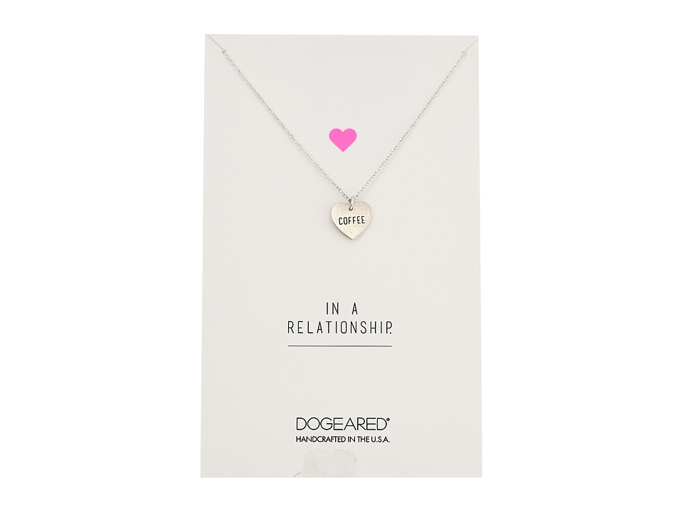 Dogeared - Always Love Wins Heart, Conversation Heart Necklace (Sterling Silver) Necklace