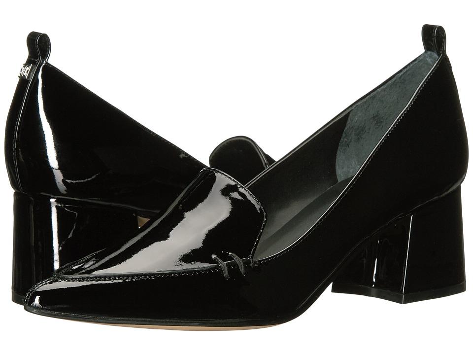 Ivanka Trump Baina Black New Patent Leather Slip on Shoes