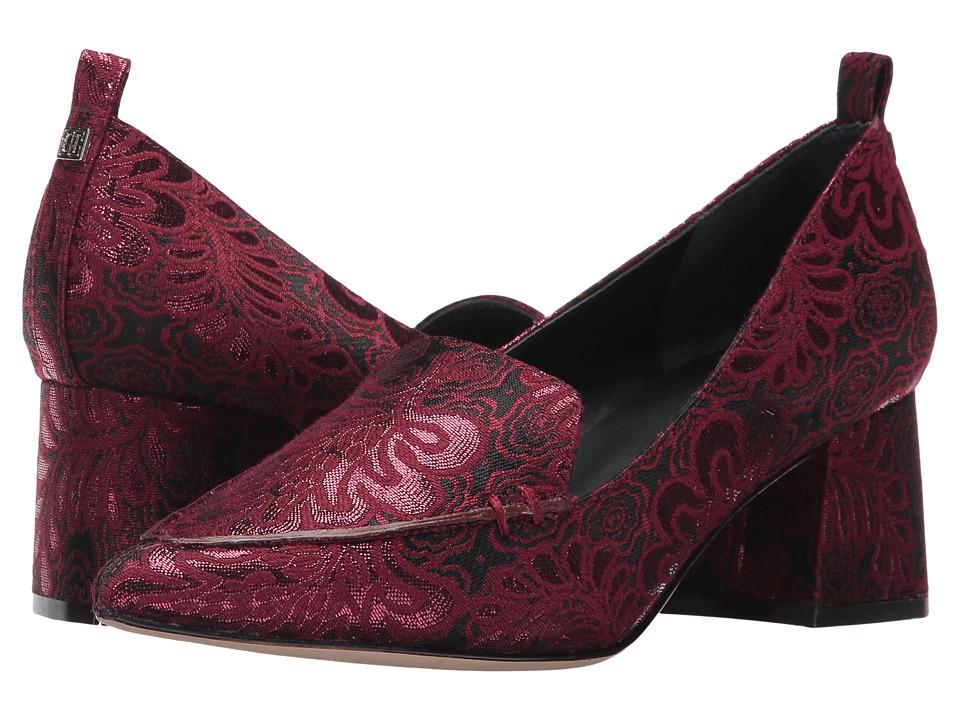 Photo of Ivanka Trump Baina 2 Dark Red Fabric-Metallic Brocade Slip on Shoes - shop  on sale