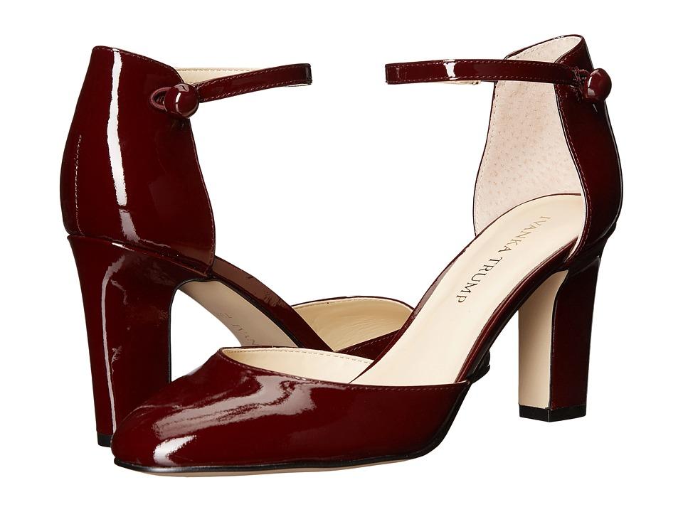 Ivanka Trump Berea Dark Red New Patent Leather High Heels