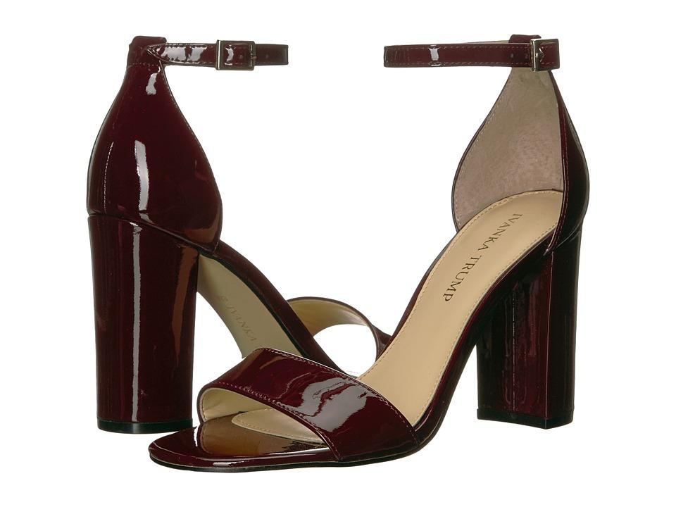 Ivanka Trump - Klover (Dark Red New Patent Leather) High Heels